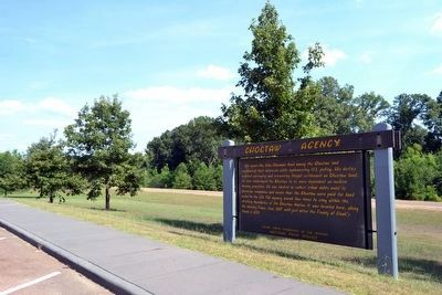 Choctaw Agency Marker image. Click for full size.