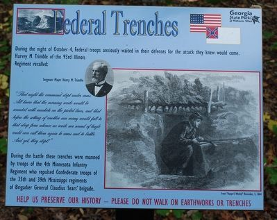 Federal Trenches Marker image. Click for full size.