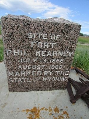 Site of Fort Phil Kearny Marker image. Click for full size.