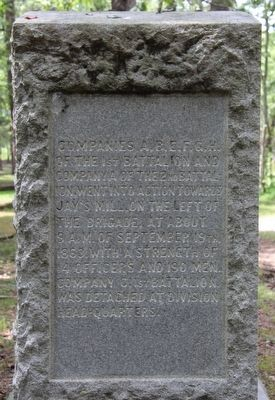 19th U.S. Infantry Marker image. Click for full size.