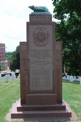 Wisconsin Soldiers Memorial (front) image. Click for full size.