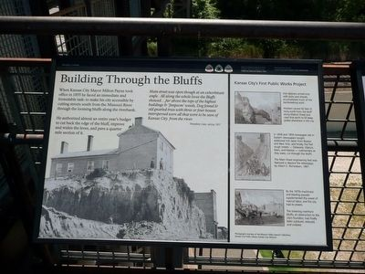 Building Through the Bluffs Marker image. Click for full size.