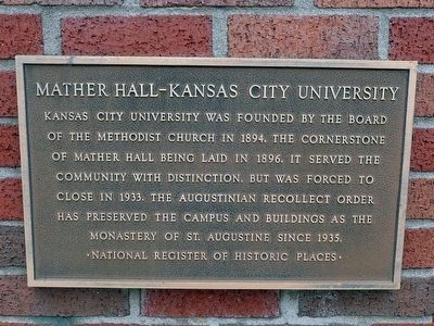 Mather Hall - Kansas City University Marker image. Click for full size.