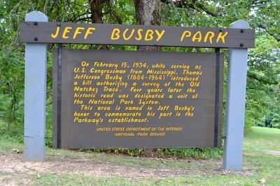 Jeff Busby Park Marker image. Click for full size.