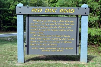 Red Dog Road Marker image. Click for full size.
