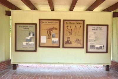 The Natchez Trace Parkway Exhibit Markers image. Click for full size.