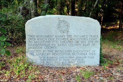 D.A.R. Monument of the Natchez Trace image. Click for full size.