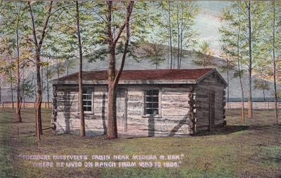 "<i>""Theodore Roosevelt&#39;s Cabin Near Medora N.Dak."" image. Click for full size."