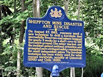 Sheppton Mine Disaster and Rescue Marker image. Click for full size.