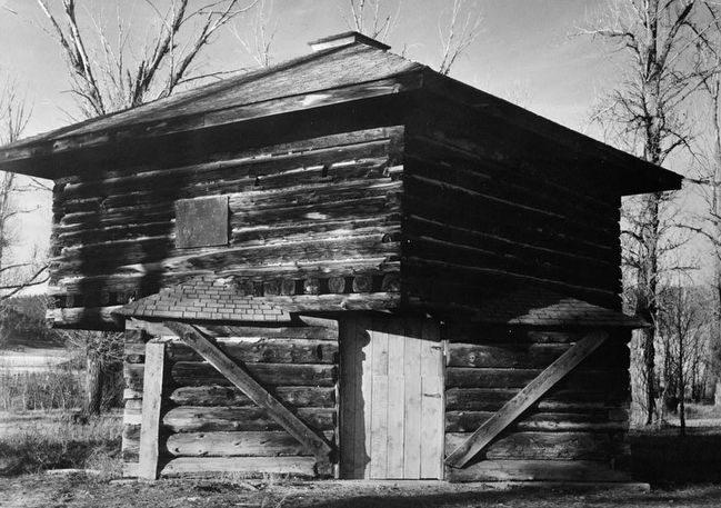 <i>SOUTH ELEVATION - Fort Logan, Blockhouse, White Sulphur Springs, Meagher County, MT</i> image. Click for full size.