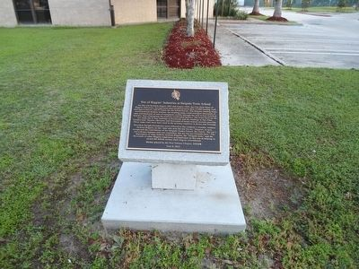 Site Of Higgins' Industries at Delgado Trade School Marker image. Click for full size.