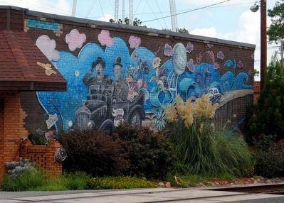 Laurel and Hardy Mural, Harlem, Ga Photo, Click for full size