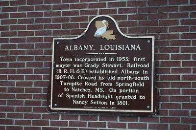 Albany, Louisiana Marker image. Click for full size.