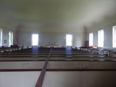 Warrior Run Church Interior image. Click for full size.