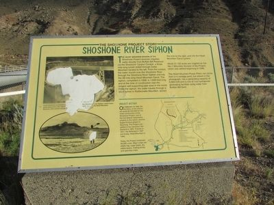 Shoshone River Siphon Marker image. Click for full size.