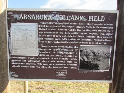 Absaroka Volcanic Field Marker image. Click for full size.