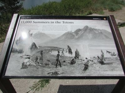 11,000 Summers in the Tetons Marker image. Click for full size.