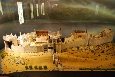 Urquhart Castle Model image. Click for full size.