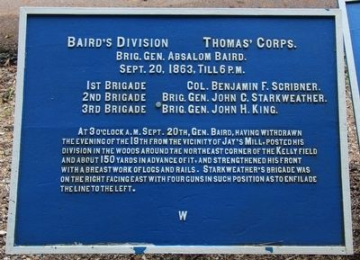 Baird's Division Marker image. Click for full size.