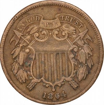 "Two-Cent Piece Showing ""In God We Trust"" Motto image. Click for full size."