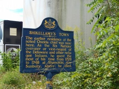 Shikellamy's Town Marker image. Click for full size.