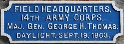 14th Corps Headquarter's Marker image. Click for full size.