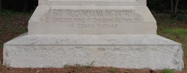 68th Indiana Infantry Marker image. Click for full size.