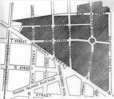 1877 Map of LeDroit Park image. Click for full size.