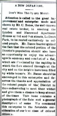 "Harewood Apartment Building for ""The Best Class of Colored Citizens"" image. Click for full size."