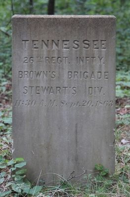 26th Tennessee Marker image. Click for full size.
