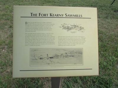 The Fort Kearny Sawmills Marker image. Click for full size.