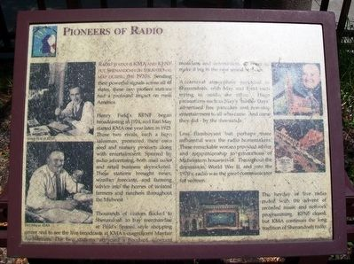 Pioneers of Radio Marker image. Click for full size.