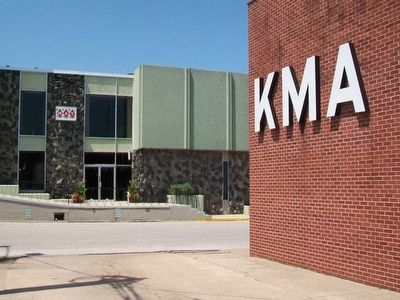 KMA Radio Station and Earl May Seed Company image. Click for full size.