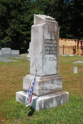 William Washington Tombstone image. Click for full size.