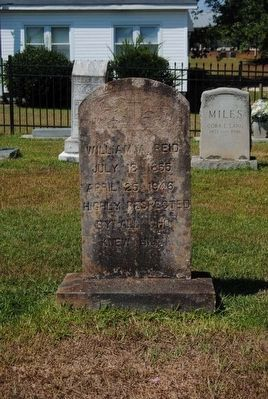 William Reid Tombstone image. Click for full size.
