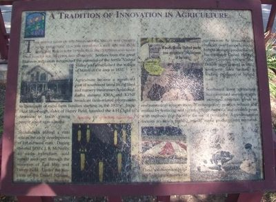 A Tradition of Innovation in Agriculture Marker image. Click for full size.