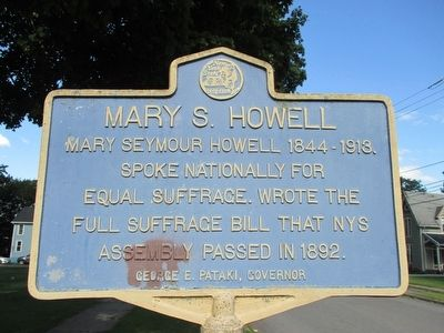 Mary S. Howell Marker image. Click for full size.