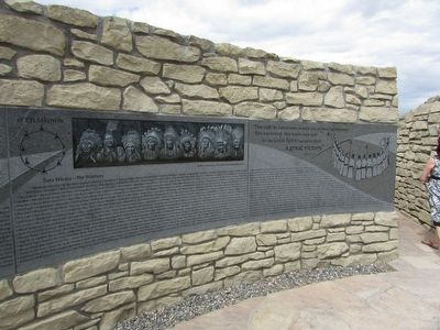 Little Bighorn Indian Memorial Marker image. Click for full size.