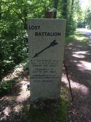 Lost Battalion Marker image. Click for full size.