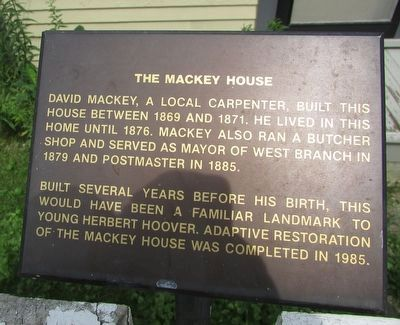 The Mackey House Marker image. Click for full size.