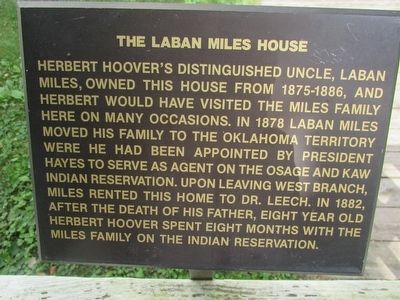 The Laban Miles House Marker image. Click for full size.