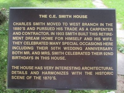 The C.E. Smith House Marker image. Click for full size.