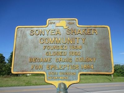 Sonyea Shaker Community Marker image. Click for full size.