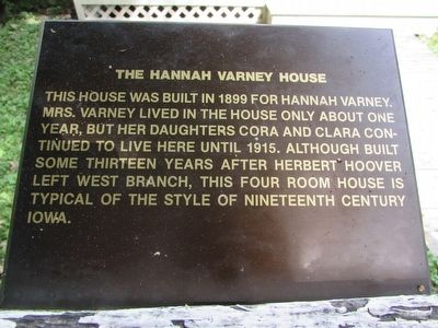 The Hannah Varney House Marker image. Click for full size.