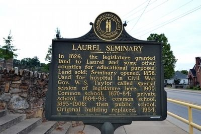 Laurel Seminary Marker image. Click for full size.