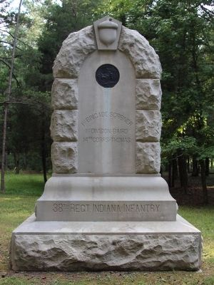 38th Indiana Infantry Marker image. Click for full size.