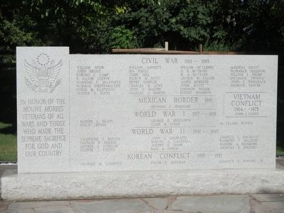 Mount Morris Veterans Memorial image. Click for full size.