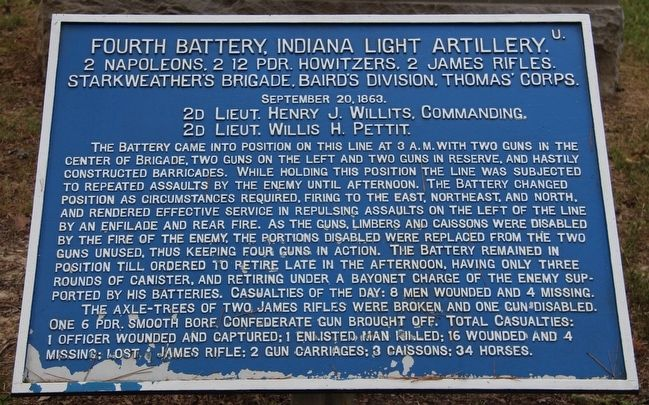 4th Indiana Battery Marker image. Click for full size.