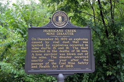 Hurricane Creek Mine Disaster Marker image. Click for full size.