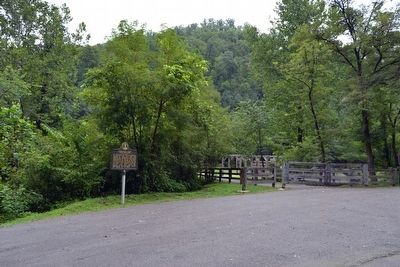 Marker near Entrance to Hurricane Creek Miner Memorial image. Click for full size.